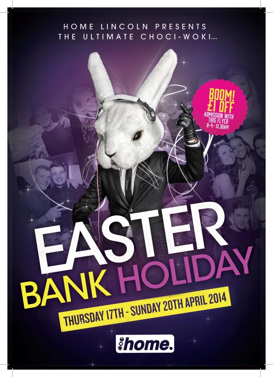 BANK HOLIDAY Easter Sunday